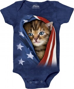 Patriotic Kitten - kotek - body niemowlęce 3D The Mountain