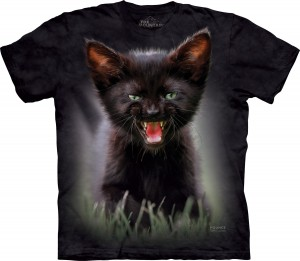 Pounce Princess Leia Cat - czarny kot - koszulka unisex The Mountain