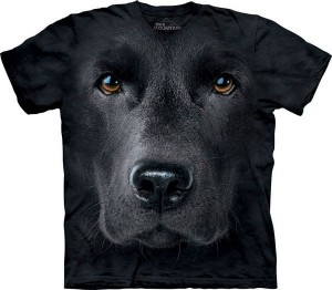 Black Lab Face - pies - koszulka unisex The Mountain 3XL