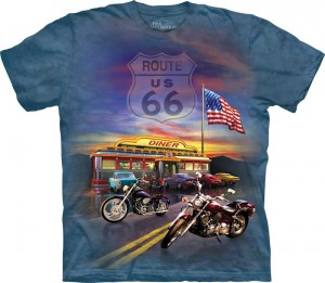Route 66 - motocykle - T-shirt The Mountain