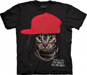 Cat Money Billionaires - kot - koszulka unisex The Mountain