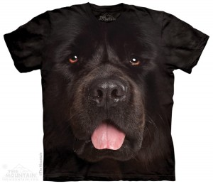 Big Face Newfie - pies - koszulka unisex The Mountain