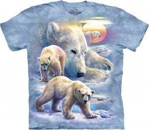 Sunrise Polar Bear Coll - misie polarne - koszulka unisex The Mountain