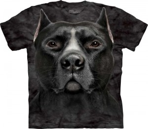 Black Pitbull Face - pies - koszulka unisex The Mountain