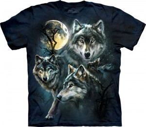 Moon Wolves Collage - wilki - koszulka unisex The Mountain