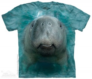 Big Face Manatee - manat - koszulka unisex The Mountain