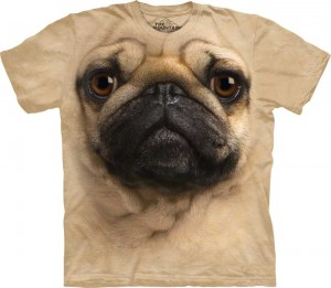 Pug Face - mops - koszulka unisex The Mountain
