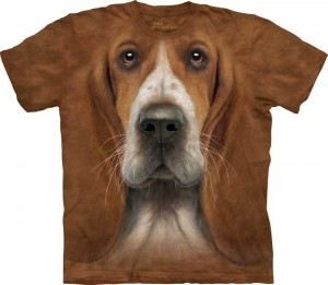 Basset Hound Head - koszulka unisex The Mountain S