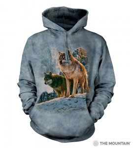 Wolf Couple Sunset - wilki - bluza z kapturem The Mountain