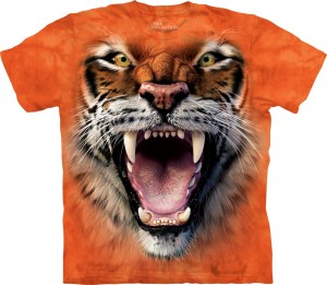 Roaring Tiger Face -  tygrys - koszulka unisex The Mountain