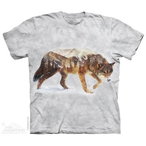 Snow Wolf - wilk - koszulka unisex The Mountain