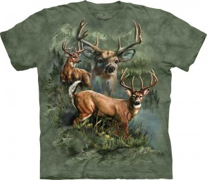 Deer Collage - jelenie - koszulka unisex The Mountain