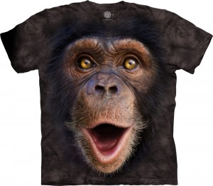 Happy Chimp  - szympans - koszulka unisex The Mountain