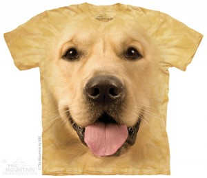 Big Face Golden - labrador - koszulka unisex The Mountain