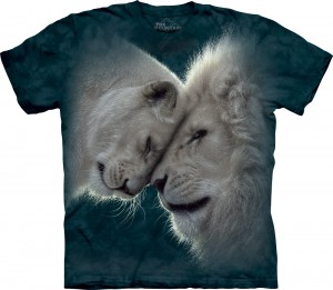 White Lions Love - lwy - koszulka unisex The Mountain