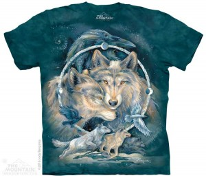 In spirit I am Free - wilki - koszulka unisex The Mountain