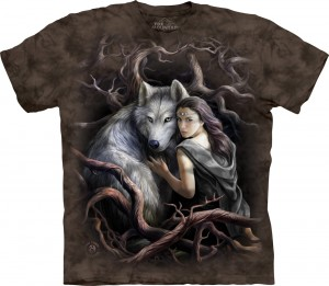 Soul Bond - wilk - Anne Stokes - koszulka unisex The Mountain