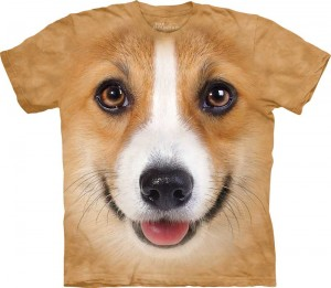 Corgi Face - koszulka unisex The Mountain 2XL