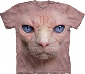 Hairless Pussycat Face - kot sfinks - koszulka unisex The Mountain