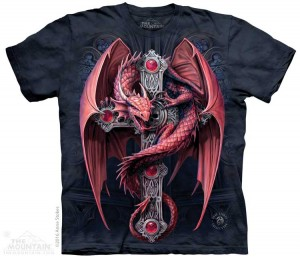Gothic Guardian - smok - Anne Stokes - koszulka unisex The Mountain