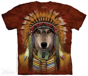 Wolf Spirit Chief - wilk indianin - koszulka unisex The Mountain