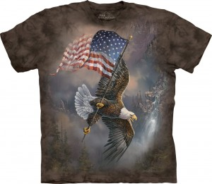 Flag-Bearing Eagle - orzeł - koszulka unisex The Mountain