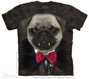 Vampire Pug - koszulka unisex The Mountain