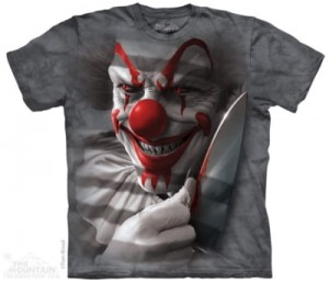 Clown Cut - klown z horroru - koszulka unisex The Mountain