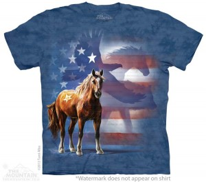 Wild Star Flag - konie - T-shirt The Mountain