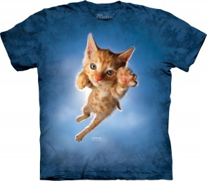 Pounce Peeps Cat - kot z pazurami - koszulka unisex The Mountain
