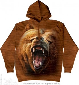 Grizzly Growl - niedźwiedź - bluza z kapturem The Mountain. Roz. M