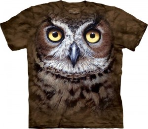 Great Horned Owl Head - puchacz - koszulka unisex The Mountain