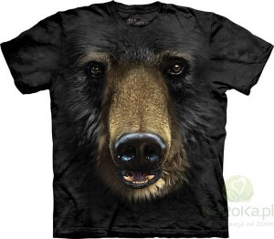Black Bear Face - miś - koszulka unisex The Mountain (Rozmiar 4XL)
