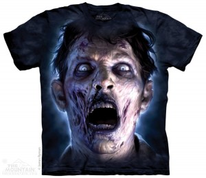 Moonlit Zombie - horror - koszulka unisex The Mountain