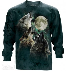 Three Wolf Moon - wilki - T-shirt z długim rękawem The Mountain