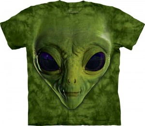 Green Alien Face - ufoludek - koszulka unisex The Mountain