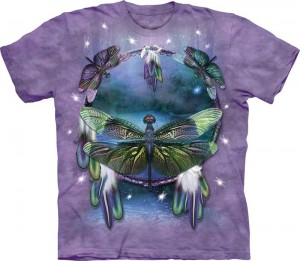 Dragonfly Dreamcatcher - Ważki - koszulka unisex The Mountain