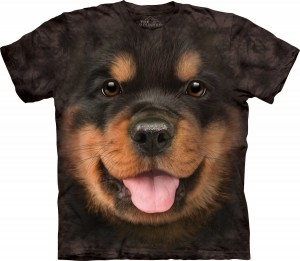 Big Face Rottweiler Puppy - koszulka unisex The Mountain