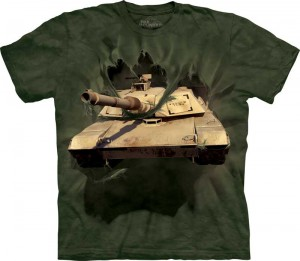 M1 Abrams tank Breakthrough - czołg 3D - koszulka unisex The Mountain