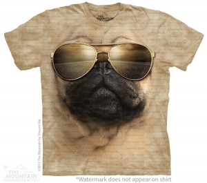 Aviator Pug - mops lotnik - koszulka unisex The Mountain