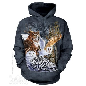 Find 11 Owls - sowy - Bluza z kapturem The Mountain