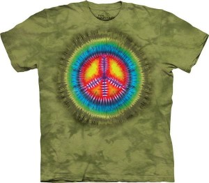 Peace Tie-Dye - pacyfa - koszulka unisex The Mountain