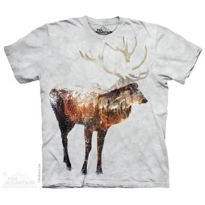 Snow Elk - koszulka unisex The Mountain