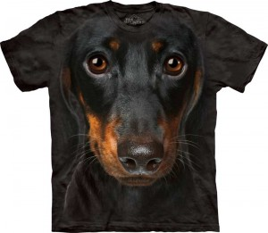Dachshund Face - jamnik - koszulka unisex The Mountain