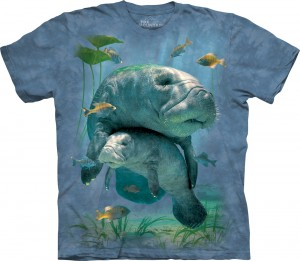Manatees Collage - manaty - koszulka unisex The Mountain