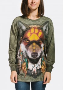 Native Wolf Spirit - wilk - T-shirt z długim rękawem The Mountain