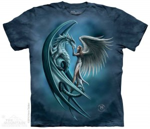 Angel and Dragon - anioł i smok - Anne Stokes - koszulka unisex The Mountain