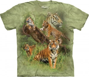 Wild Tiger Collage - tygrysy - koszulka unisex The Mountain