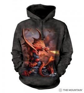 Fire Dragon - smok - bluza z kapturem The Mountain. Roz. M, 2XL