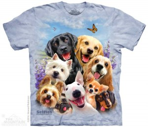 Dogs Selfie - Psy - koszulka unisex The Mountain